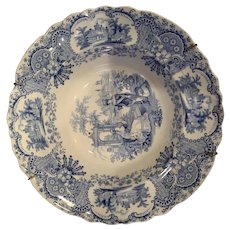 Staffordshire Royal Manufacturing Ironstone Soup Plate