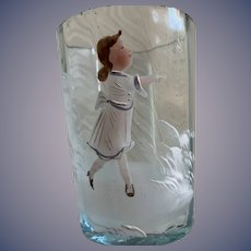 Mary Gregory Tumbler - Little Girl