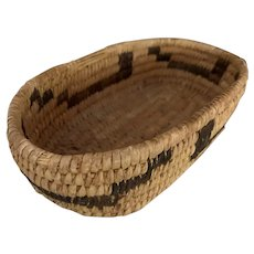 "Native American - Papago Basket 8-1/4"" length"