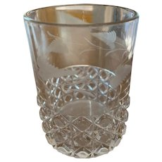 Etched Diamond Block Tumbler