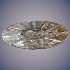 """Large Glass Platter - 14"""" diameter"""
