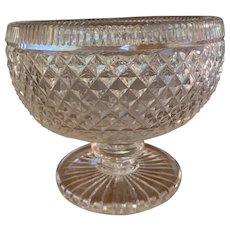 Footed Glass Georgian Style Bowl