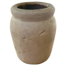 "Stoneware Paste Pot - 4-1/2"" height"