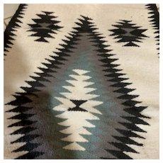 """Navajo """"Crystal"""" Wool Rug (56 X 28)"""