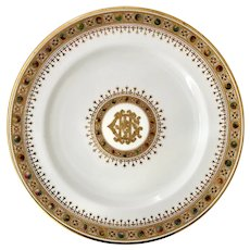 Superb Copeland 'Jewelled Porcelain' plate, 1897