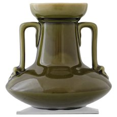 Christopher Dresser for Linthorpe two-handled vase, circa 1880
