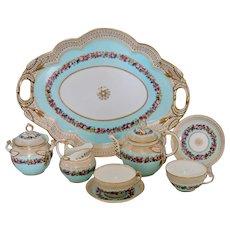 Unique Brown-Westhead, Moore tête-à-tête tea set, ca. 1865