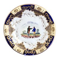 James & Ralph Clews rustic figures plate, circa 1822