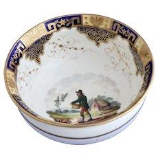 James & Ralph Clews rustic figure slop bowl, circa 1822