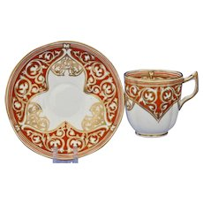 Stylish Copeland cup & saucer, Islamic influence, circa 1849
