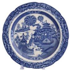 Rare Job Ridgway 'Curling Palm' pearlware plate, c.1805