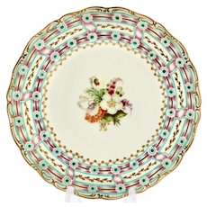 Davenport dessert plate with dynamic border, circa 1840