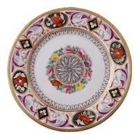 Early Coalport finely decorated dessert plate, 1800-1810