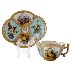 Helena Wolfsohn quatrefoil cup and saucer, ca. 1879-1880
