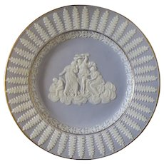 Job Ridgway porcelain plate, sprigged Cupid, Psyche & sisters, circa 1812