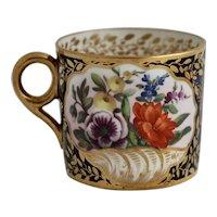 Beautiful first period Minton coffee can, circa 1811