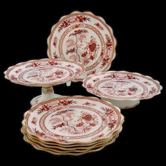 Wedgwood 'Bow Jeddo' dessert set, 1888-89