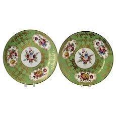 Pair of Rockingham side plates, 1831-37