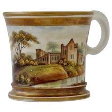 Regency small mug, cottage & manor in landscape
