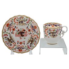 Spode 'Pembroke Embossed' coffee cup & saucer, 1828