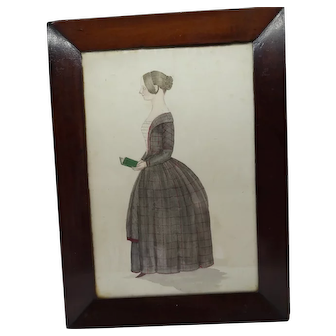 Early 19th century naive watercolour