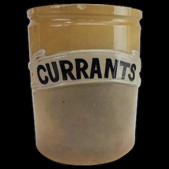 Edwardian denby currants storage jar