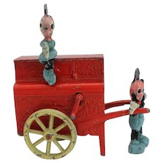 Mickey mouse & Minnie mouse barrel organ lead toy
