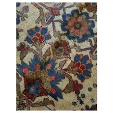 3.7 x 6.6 Antique Finest Turkish Rug Decorative Hand Knotted Unique One of a Kind