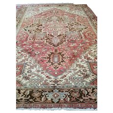 9 x 12 or 8.5 x 11.11 Antique Top Quality Persian Heriz Rug Decorative Hand Knotted Unique One of a Kind