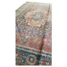 4.4 x 6.5 Antique Top Quality Persian Bijar Rug Decorative Hand Knotted Geometric Unique Village Rug