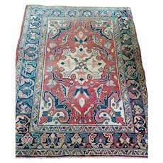 2.8 x 3.7 Antique Top Quality Azerbaijan Area Rug Decorative Hand Knotted Unique One of a Kind