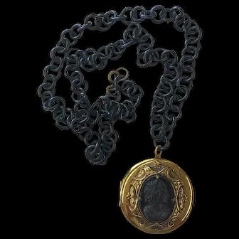Unique Cameo Locket and Chain