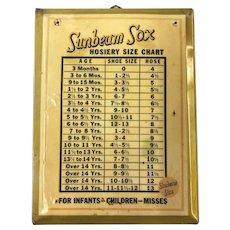 Sunbeam Sox Size Chart