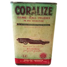 Coralize Car Wax Can