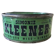 1930's Simoniz Kleener Can with Old Car