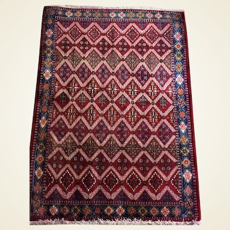"""Persian Abadeh Hand Knotted Rug 3'6"""" x 6'1"""""""