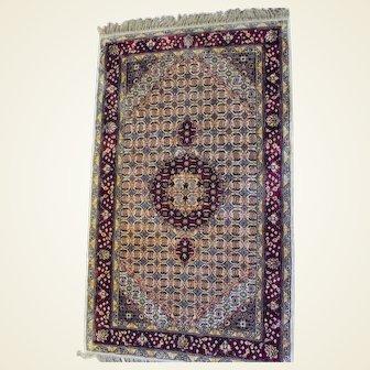 Indo-Bijar Hand Knotted Silk Rug 3x5