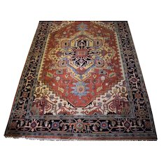 Persian Heriz Wool Hand Knotted 6x9 Rug