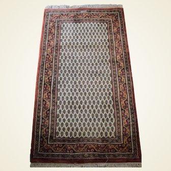 Indo-Persian Mir Seraband Signed Wool Rug 3x5
