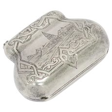 3 in - 84 Silver Antique Russian Purse-Shaped Box