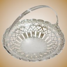 8 7/8 in - Sterling Silver Tiffany & Co. Antique Ornate Openwork Round Basket