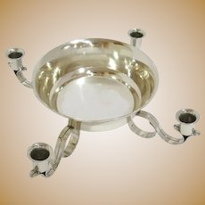 """15.5"""" Sterling Silver Tiffany & Co. Antique Bowl w/ 4 Candle Holders Centerpiece"""