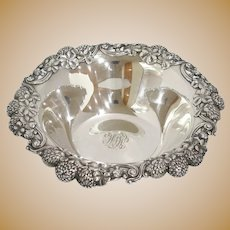 8 7/8 in Sterling Silver Tiffany & Co. Antique Clover Pattern Round Serving Bowl