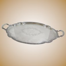 "27.75 in - Sterling Silver Gorham Antique ""Chantilly"" Ornate Floral Scroll Tray"