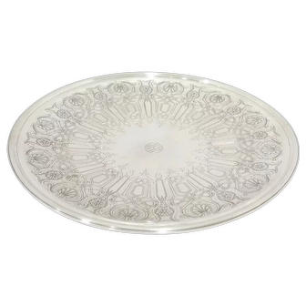 12 3/8 in - Sterling Silver Tiffany & Co. Antique Floral Footed Serving Plate