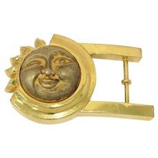4.25 in - Sterling Silver Gilt B. Kieselstein-Cord Vintage Sun Belt Buckle