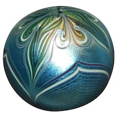 Blue Pulled Feather Paperweight Orient And Flume