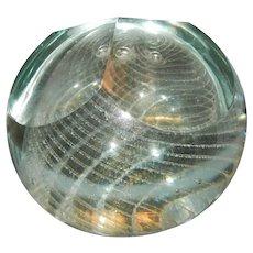 Very Unusual John Bingham England Art Glass Paperweight
