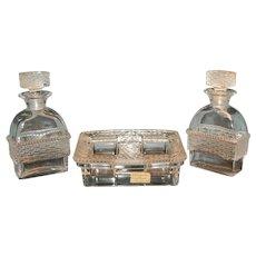 Lalique Five Piece Mens Cologne Bottle Set