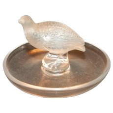 Lalique Crystal Quail Pin Holder